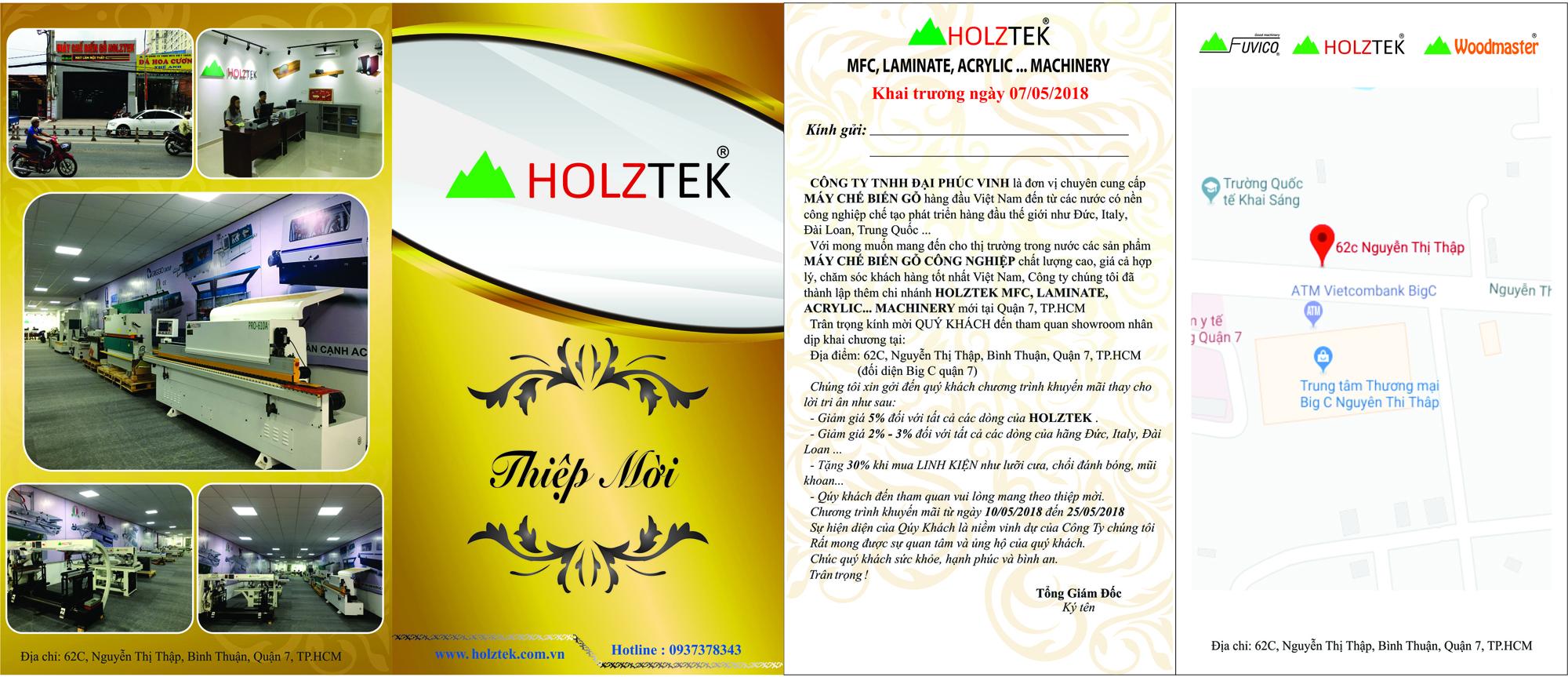 Khuyến mãi lớn nhân dịp khai trương Holztek TP. Hồ Chí Minh