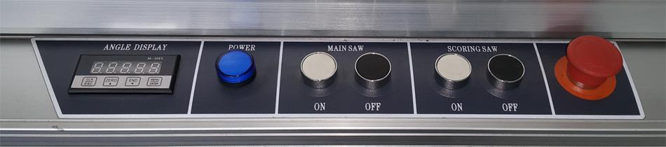 bảng điều khiển máy cưa bàn trượt